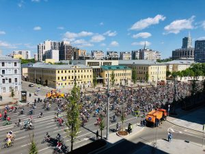 В Москве 19 мая прошел весенний велофестиваль