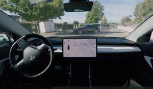 Доставка автомобиля без водителя в новой версии программного обеспечения автомобиля Tesla